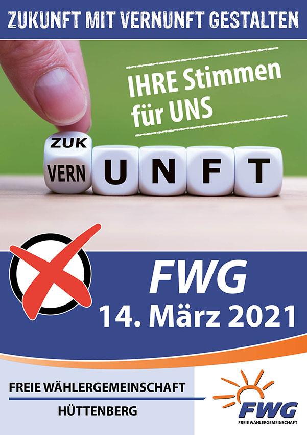 FWG-Wahlplakat Nr. 2 zur Kommunalwahl 2021