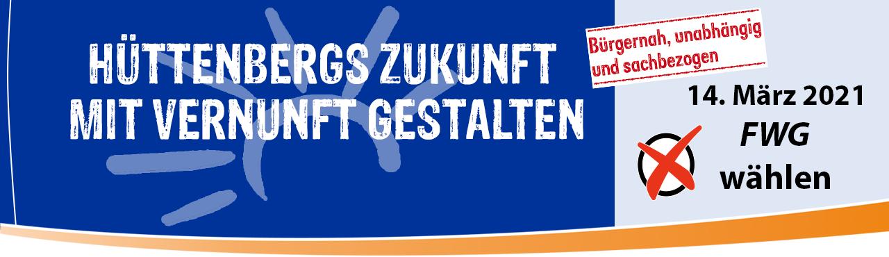 FWG-Leitgedanke Hüttenbergs Zukunft mit Vernunft gestalten