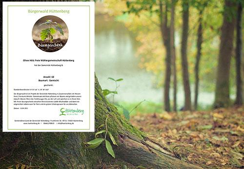 Baumgeschenk an den Hüttenberger Bürgerwald