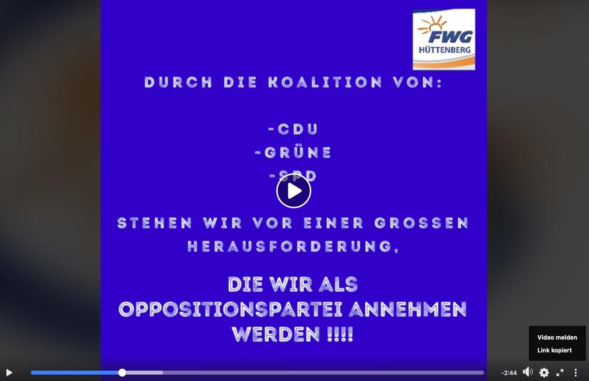 Video zur neuen Rolle in der Opposition / Ansprache der Ältesten der GVT
